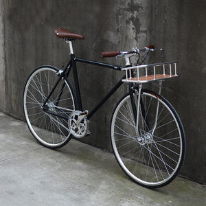 700C Classic Bicycle with Basket Single Speed Retro City Bike OEM Fixed Gear Bicycle Fixie Bike