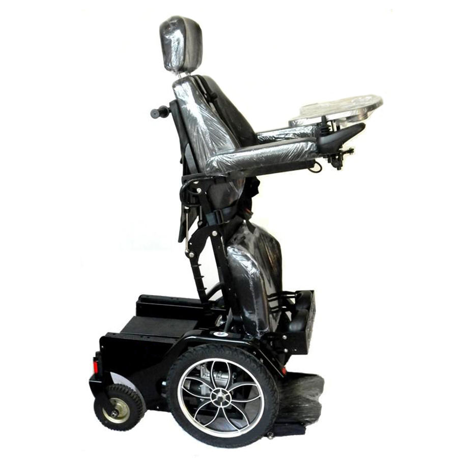 Power motor lift up seat wheelchair high back reclinging stand up wheel chair