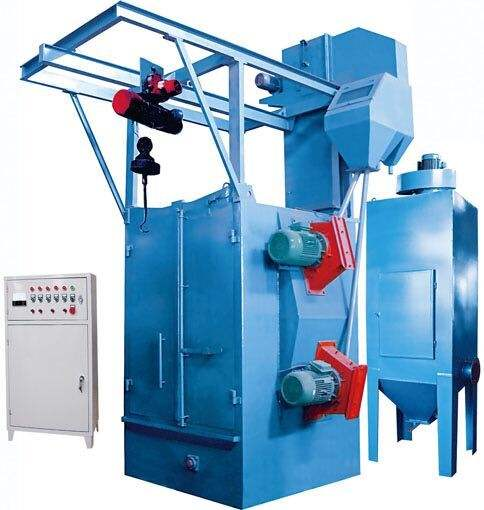hot sales hook type shot blasting machine double hook shot blasting machine