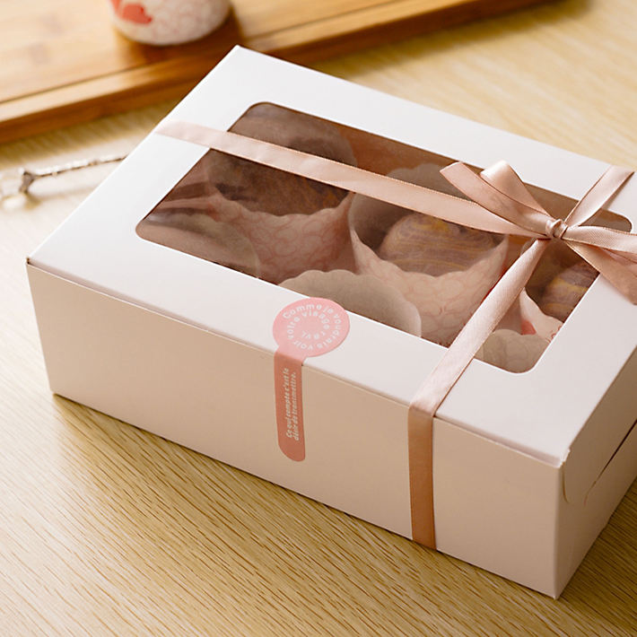 Ribbon [ Packaging ] Packaging Boxes Cheap Handmade Paper Packaging Box For Cake/Cupcake Bulk Buy From China