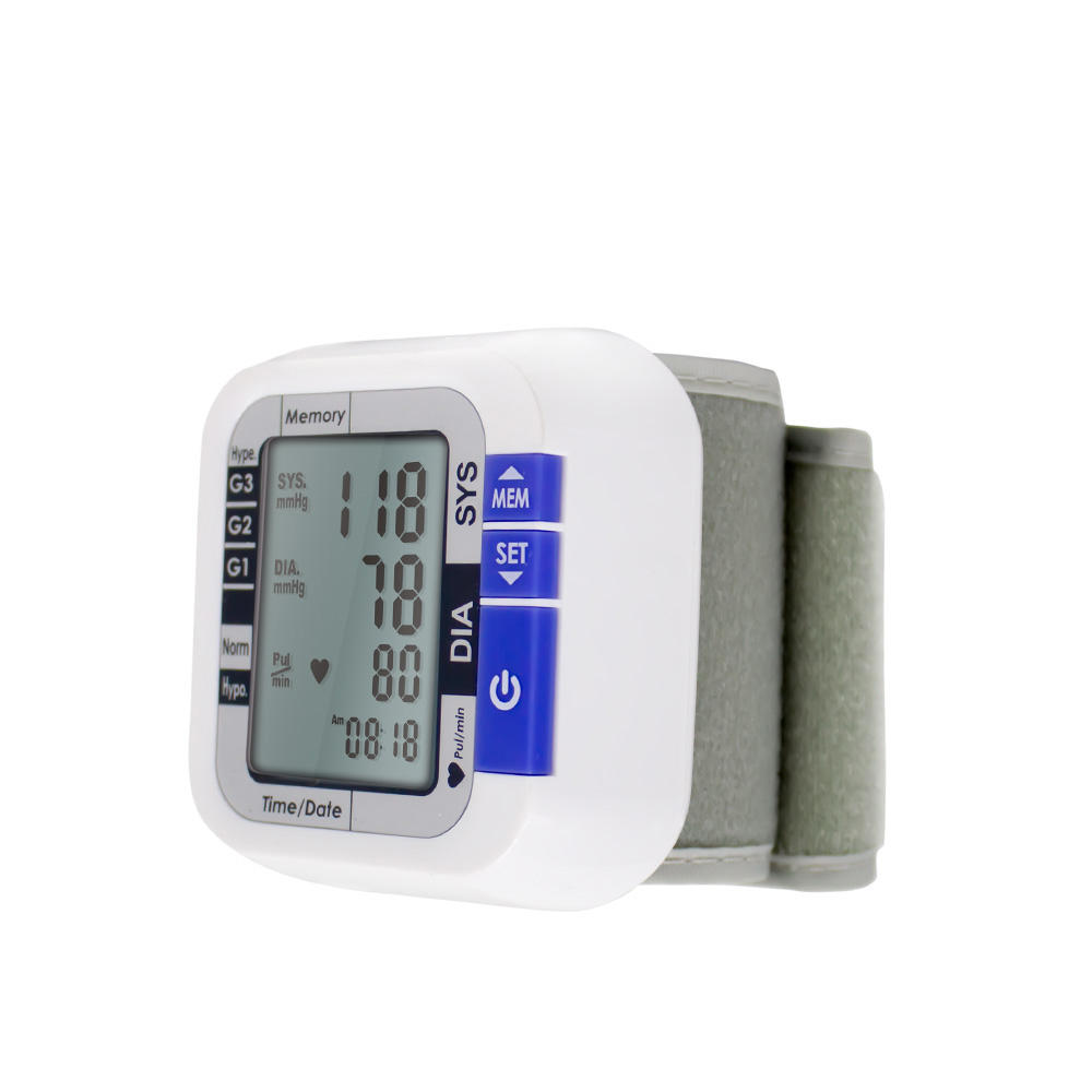Wrist fashionable and personal health care electronic blood pressure monitor, digital and automatic wrist blood pressure monitor