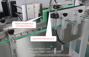 High quality automatic 10ml vial glass bottle label applicator machine