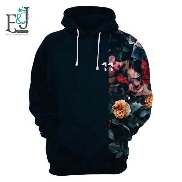 Europe Style Hoodies Vintage Flowers Hoodies Fashion 3D Printing Retro Roses Hoodie