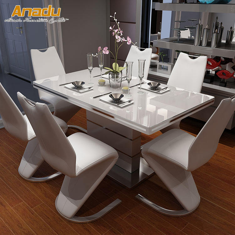 modern style wooden painted nesting dinning tables LCZ01