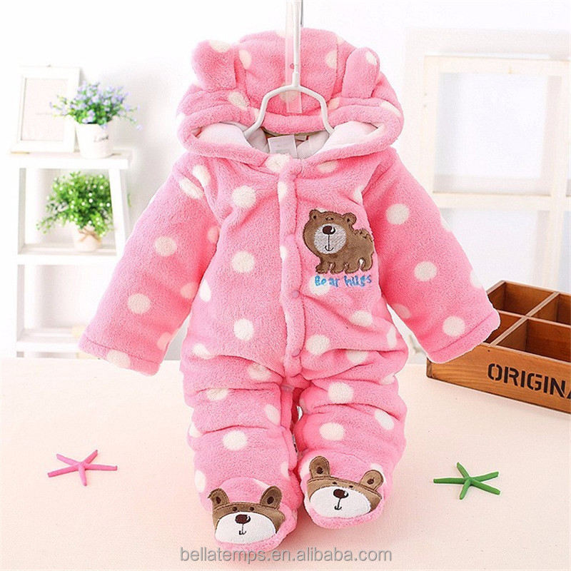 winter Infant clothes children clothing set cartoon soft cotton warm thick baby boys girls clothes suit newborn outfits