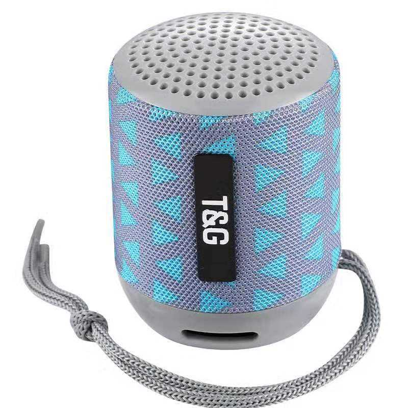 Colorful fabric TG129 Bluetooth speaker creative with lanyard wireless bass mini audio