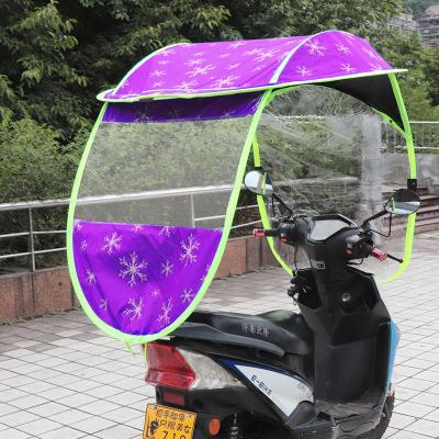 YOUGL Fully Enclosed Motor Scooter Umbrella Mobility Sun Shade /& Rain Cover Waterproof,Universal,B1