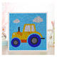 New style mini white frame 20*20CM DIY little car pattern full drill diamond painting kids toys educational