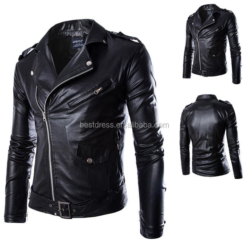 Ecoparty Size M-4XL Fashion Herenkleding Slim Fit Casual Pak Jassen Blazers Mannen Lederen Biker Jacket Hot Koop stijlen