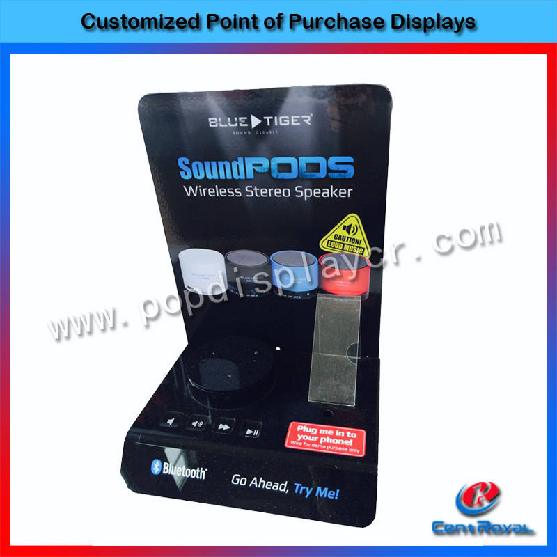 China supplier custom counter acrylic speakers display rack