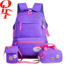 new style backpack famous brand waterproof fabric child school bag