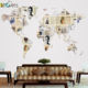 Modern 3D home decorative antistatic wall world map sticker for living room