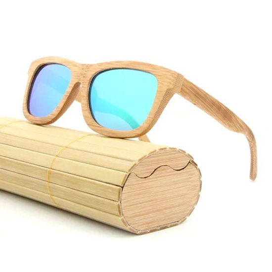 Hot Selling Handmade Polarized Framed Fashion Custom Logo Wood Bamboo Sunglasses