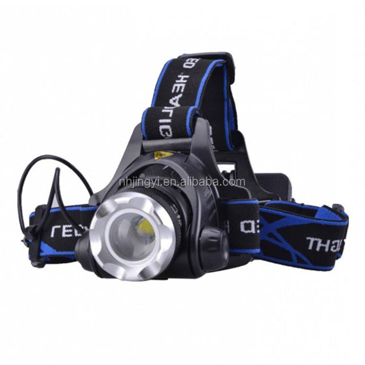 aluminum zoom T6 1000 lumen waterproof 10 Watt rechargeable LED headlamp
