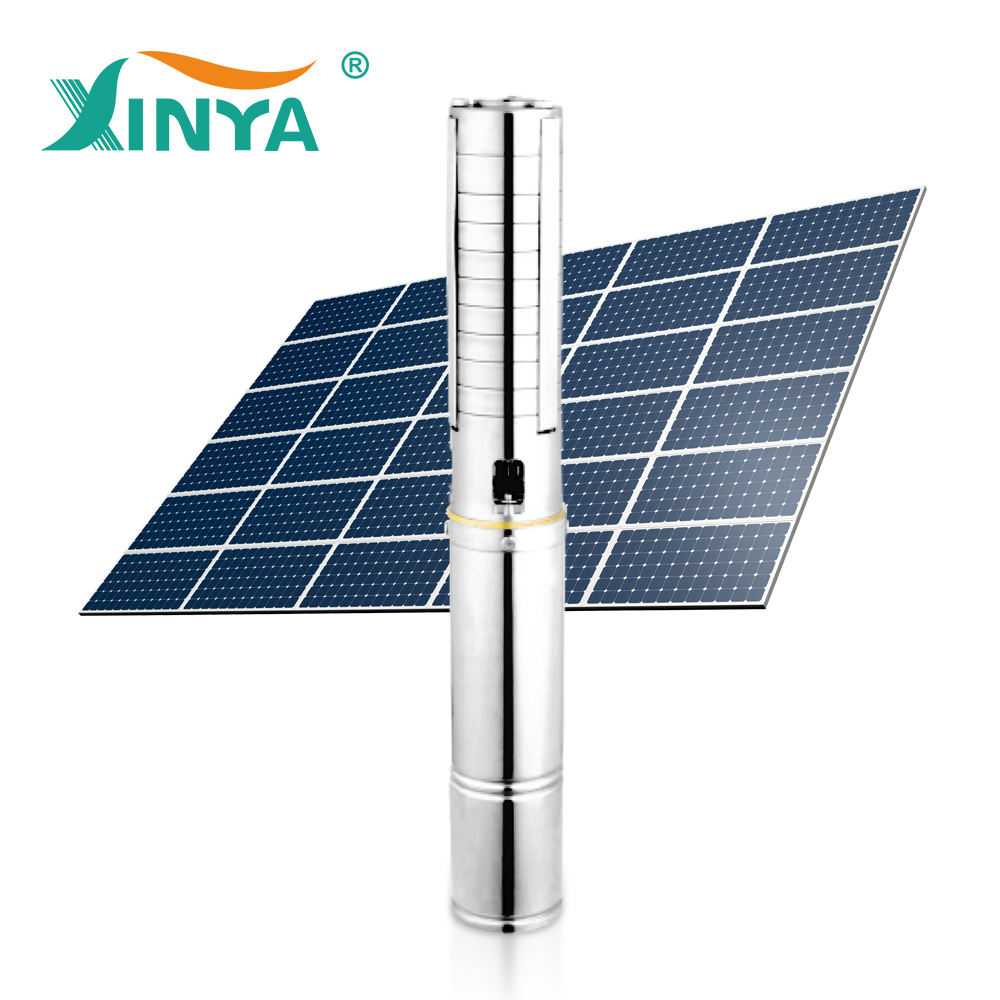 AC DC deep well pumps parts solar submersible water pump