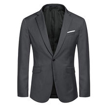 Men's Casual Suit Blazer Jackets Lightweight Sports Coats One Button