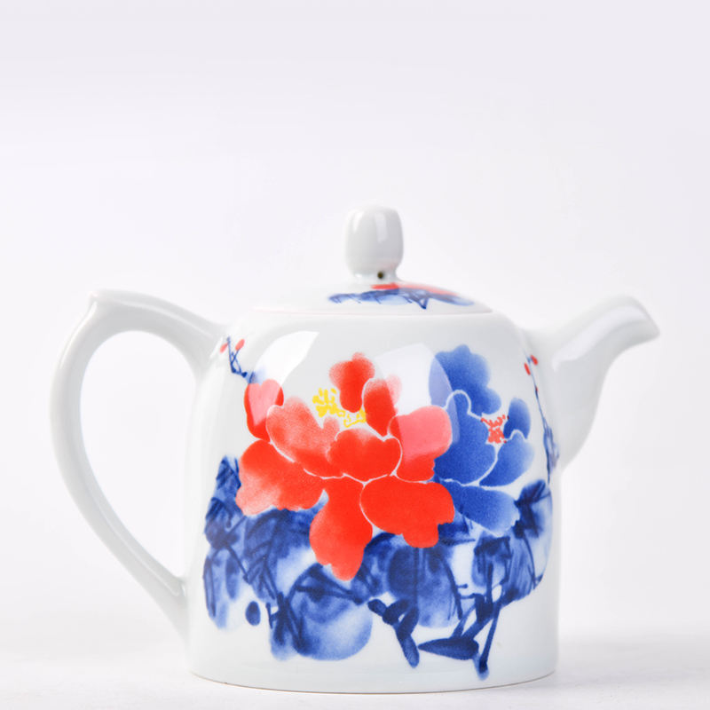 ready to ship chinese traditional kongfu ceramic porcelain teapot gongku teapot