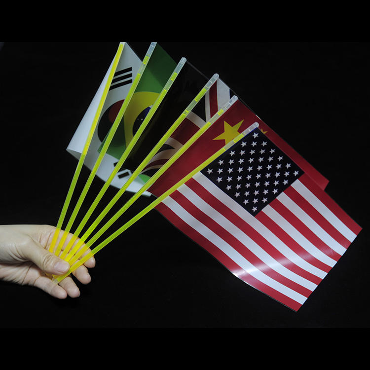 Event Party Supplies Glow Stick Hot Selling Colorful National Flag in the Dark Light for Concert
