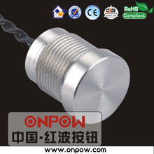 Professional manufacturer since 1988 (CE, ROHS) 16mm 1NO momentary aluminum piezo switch touch switch