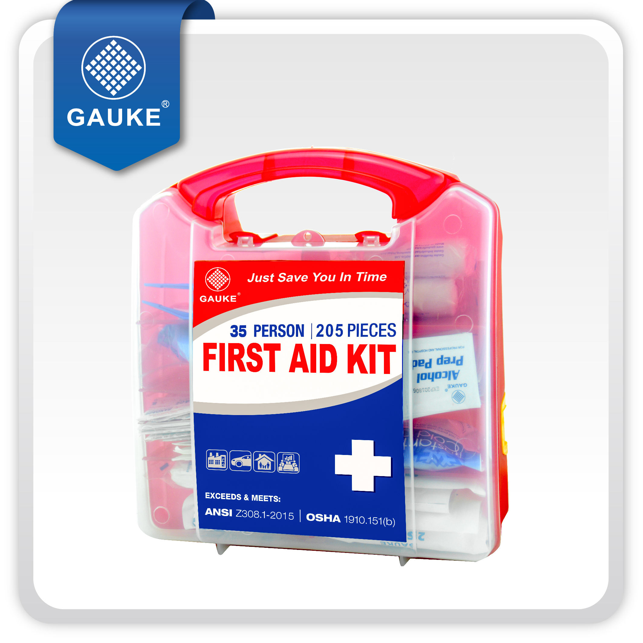 의료 장비 CE FDA Approved 35 인 First Aid Kit 상자