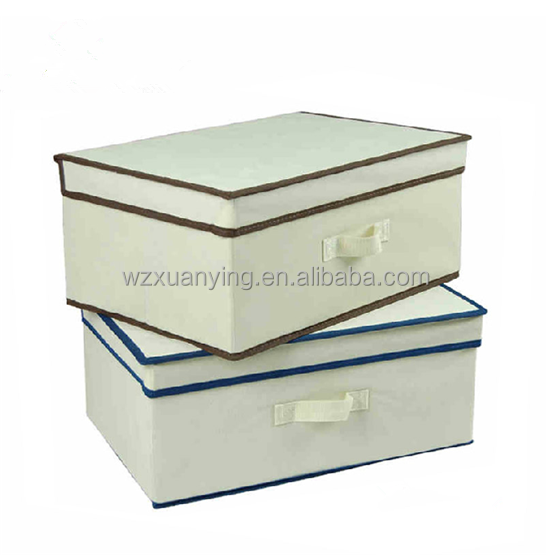 Eco and safe household foldable non woven fabric storage box,underwear foldable cloth fabric storage box foldable