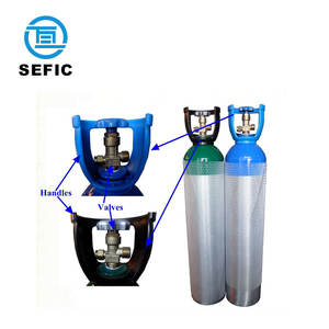 SEFIC Brand O2/N2O Gas Aluminium Cylinder with regulator