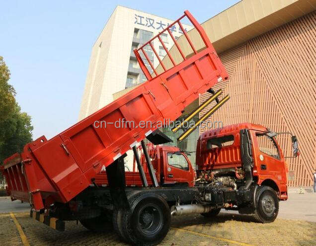 DongFeng 4x2 6 wheeler dump truck 5 Ton Light Tipper Truck 4x4 Chassis For sale