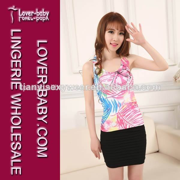New High End Quality Slimming Fitted Teen Girls Fashion Tops