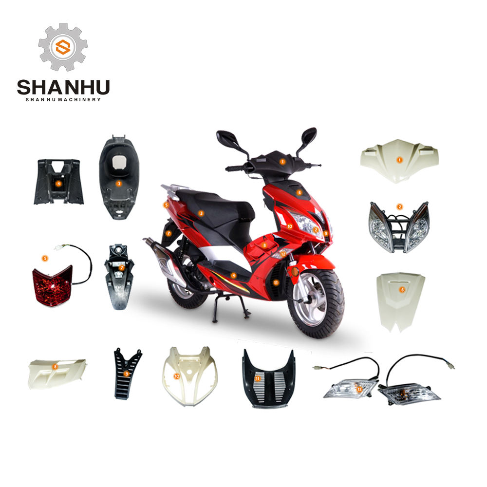 Accesorios de motos electric scooter plastic parts in taizhou chinese OEM manufacturing