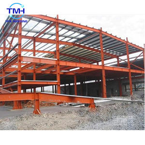 Secure prefabricated steel structure building used for warehouse buildings