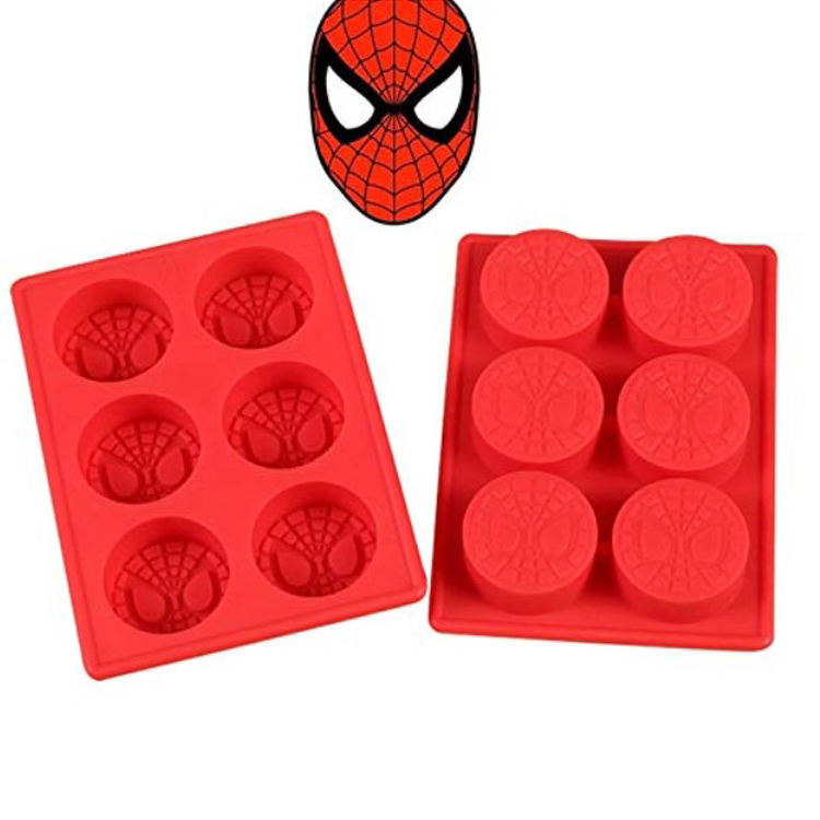 Wholesale cheap Spiderman Birthday Cake Pan Candy Mold Ice Tray