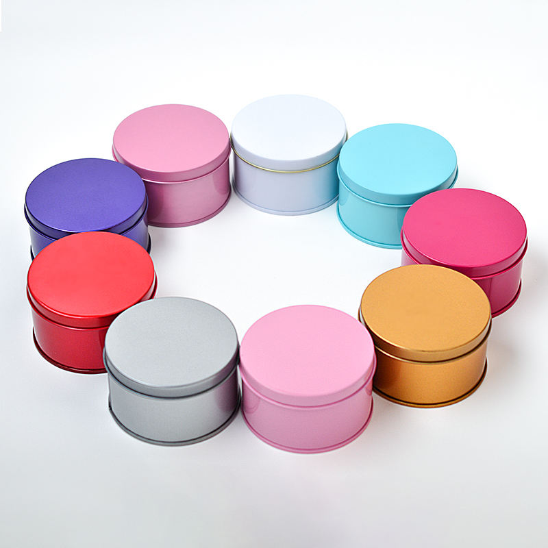 Round Deep Solid Metal Tin Container Lid Steel Cans For Spices Balms Gels Candles Gifts Storage