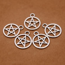 Custom cheap wholesale stainless steel pentagram charms