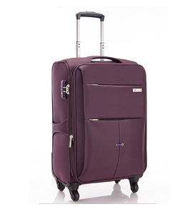custom nylon Fabric Trolley Bags Luggage Suitcase with 4 Wheel Spinner