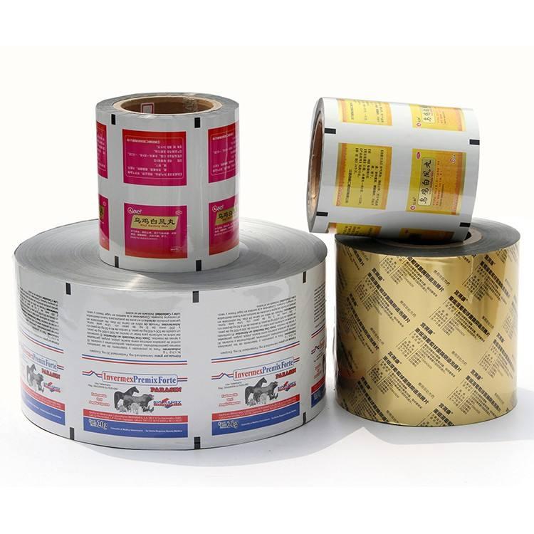 Custom printing lamination roll film pet/al/pe aluminum foil laminated food packaging film