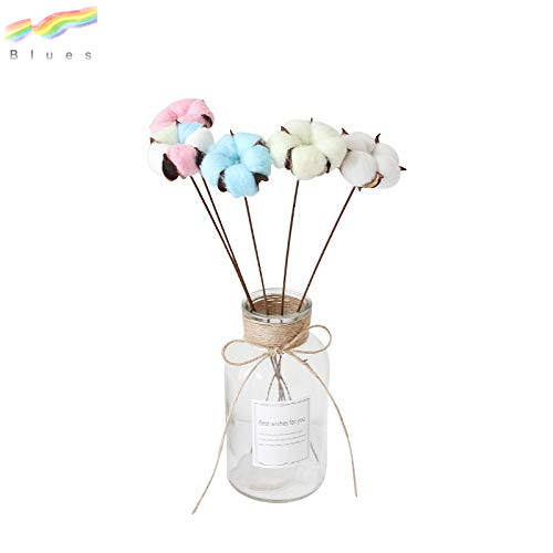 Natural Color Dried Flowers Cotton Stems Small Fresh Dried Floral Bouquets Decoration