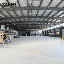 large span light type structural metallic industry warehouse hall