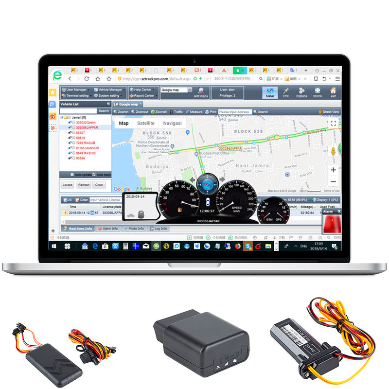 Gps tracker tk103 gebruik in de auto gps tracking systeem, sample gratis test