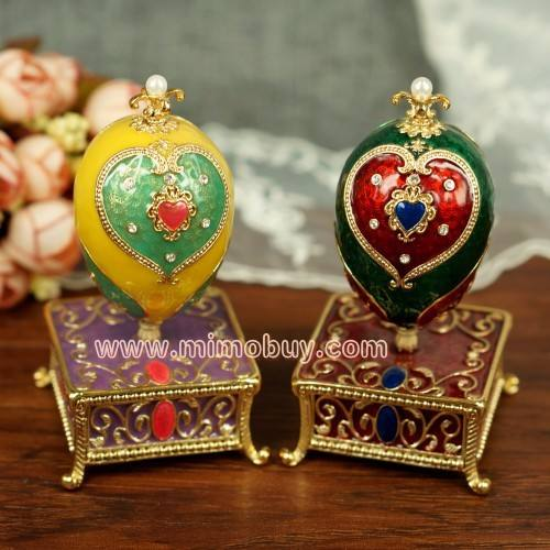 Metal faberge egg Box egg storage style design hand crafted craft gift 2014 hot gift items