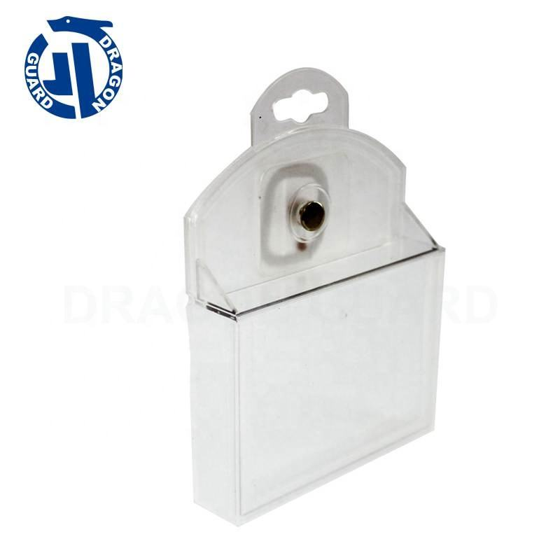 S007 EAS Plastic Safer Box 8.2mhz 58khz eas Battery Display Safer For Single Battery
