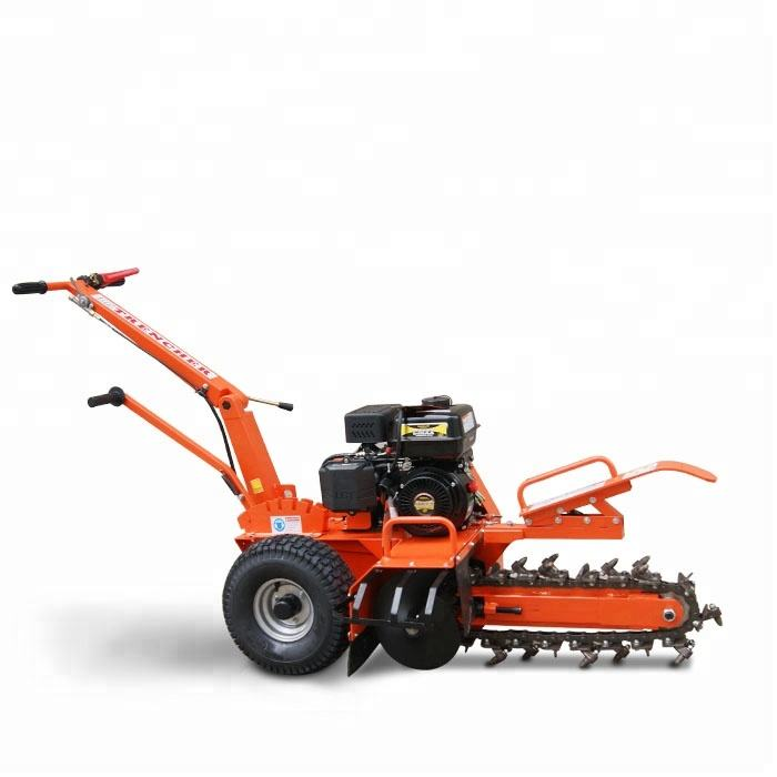 Commercial Use Heavy Duty Professional 7HP Gasoline Motor Powered Small Trencher