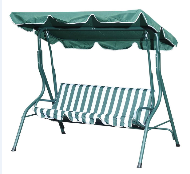 Garden Patio Swing Chair 3 Seater Swinging Hammock Canopy