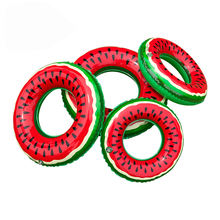Oempromo Watermelon design PVC Adult inflatable swimming ring