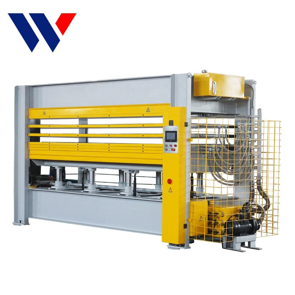 PLC control auto control temperature hydraulic plywood hot press machine for woodworking