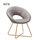 DM Hotel Modern Fabric Metal Chrome Legs Dining Chair for Restaurant