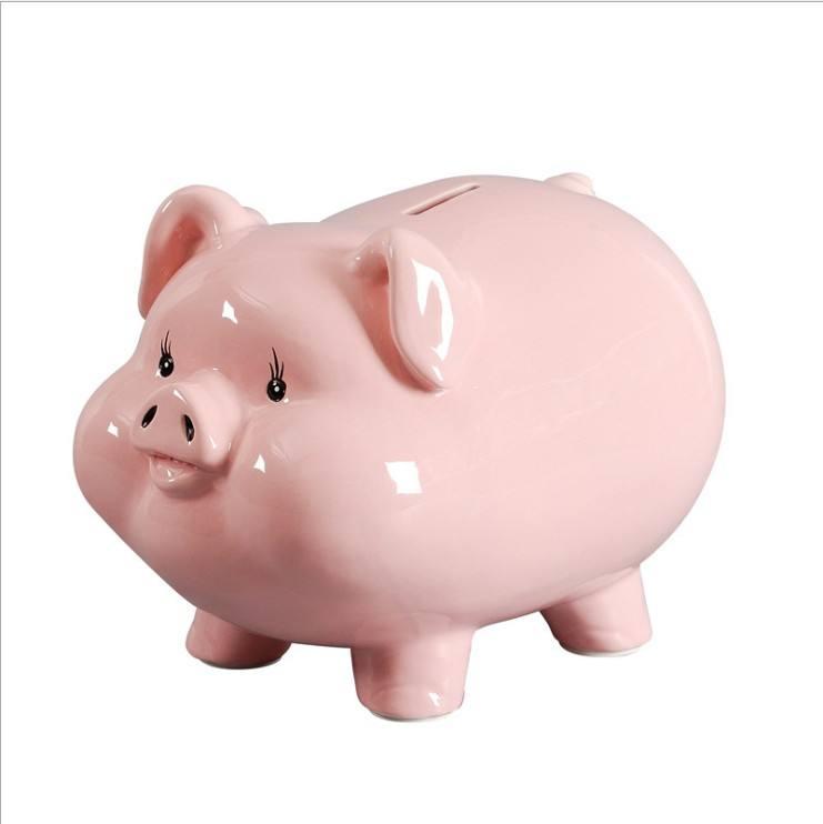 creativa cerdo de papel moneda de doble uso de gran capacidad dinero Caja de Ahorro de banco para la venta