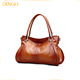 Guangzhou factory high quality leather woman hand bag women's bag python tote shoulder bag