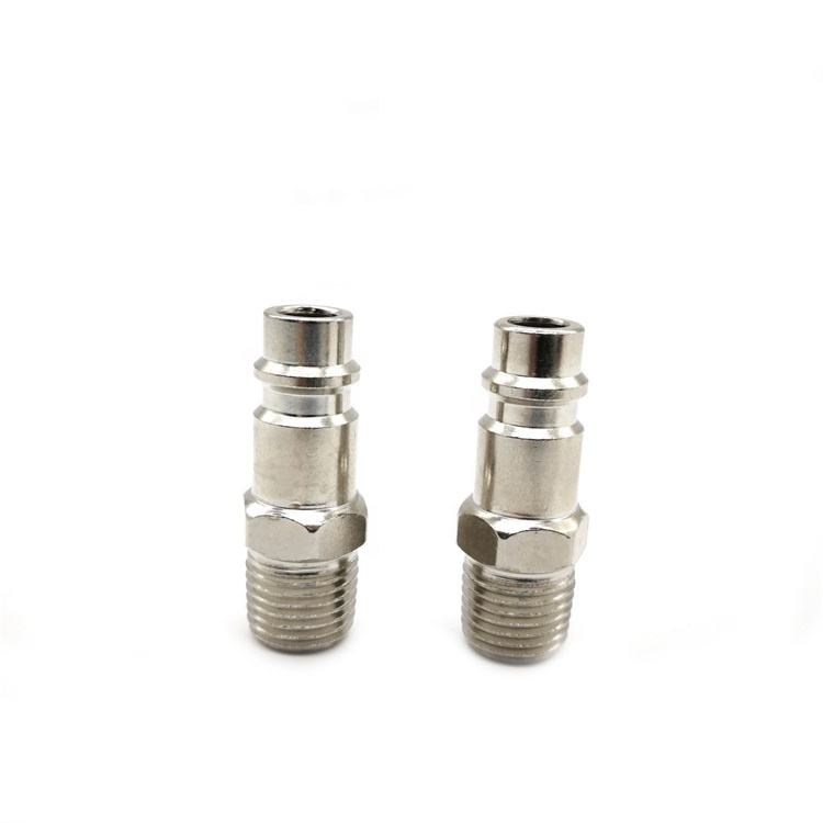"""SYD 1186 Air Line Hose Fitting Air Compressor Connector Quick Release Coupler Plug Socket Connector 1/4"""" BSP Male"""