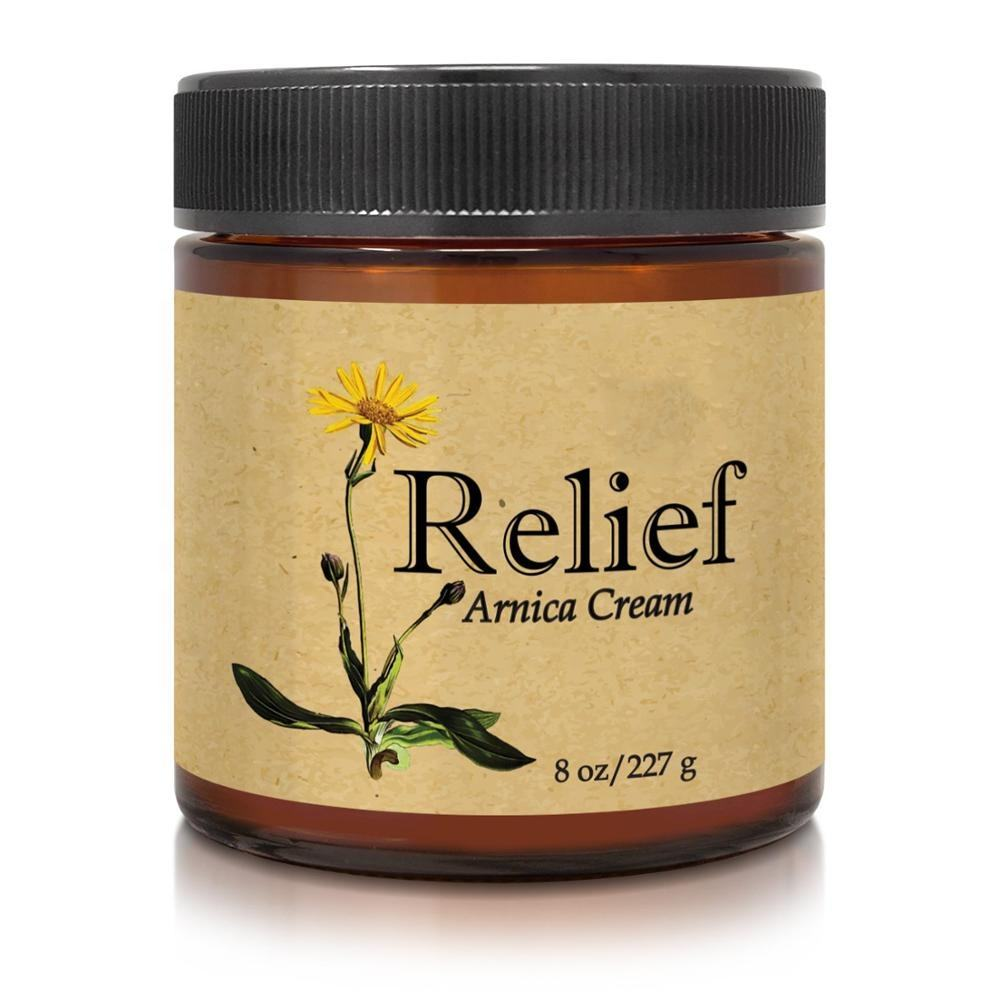 Private Label Pain Relief Arnica Cream, All Natural Massage Lotion for Sore Muscles & Stiffness