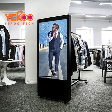 "65"" motion sensor advertising bluetooth marketing wifi advertising led displays for advertising"